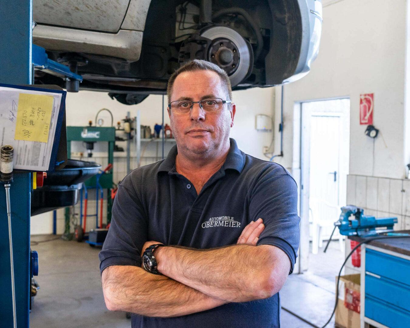 Marc Klein aus der Werkstatt von Automobile Obermeier aus Meckenheim