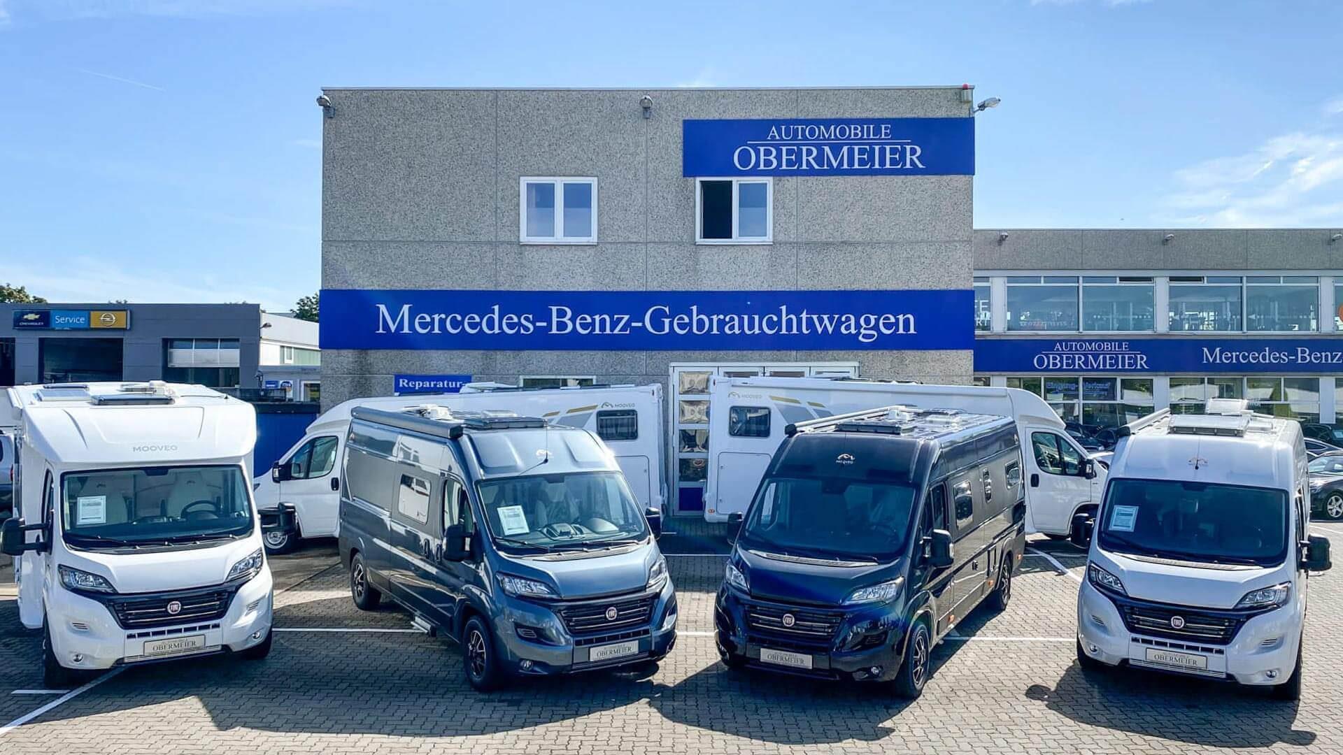 Mooveo-Wohnmobil im Außenbereich bei Automobile Obermeier in Meckenheim